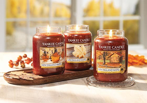 Variety of Yankee Candles