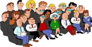 People sit down in the meeting room